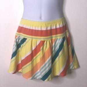 Gymboree girls yellow stripe scooter skirt